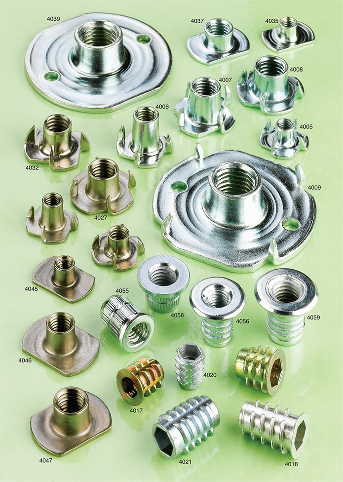 flanged tee nuts